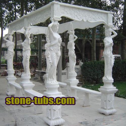 Natural Stone Patios And Marble Pergolas