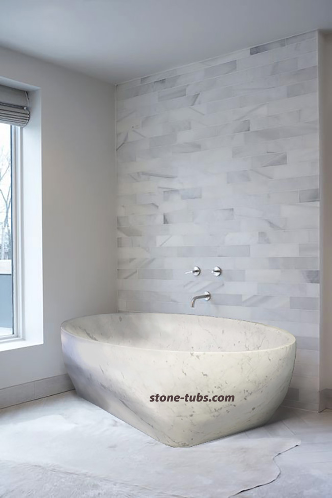 freestanding stone bath