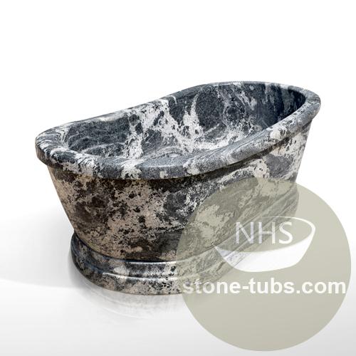 Solid granite bathtub