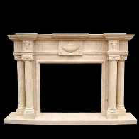 Marble Fireplace Mantels And Stone Fireplace Factory Price