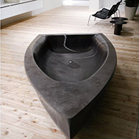 black bathtub boat shape marble bathtubs