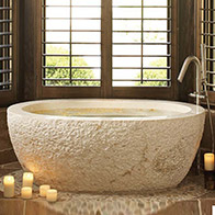 carved stone bathtub beige marble bathtub rough exterior