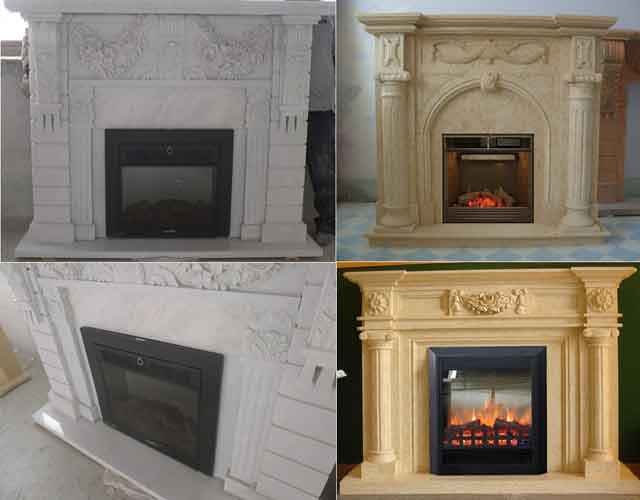 Marble Stone Fireplace Mantel Supplier Chinese Fireplace Factory ...