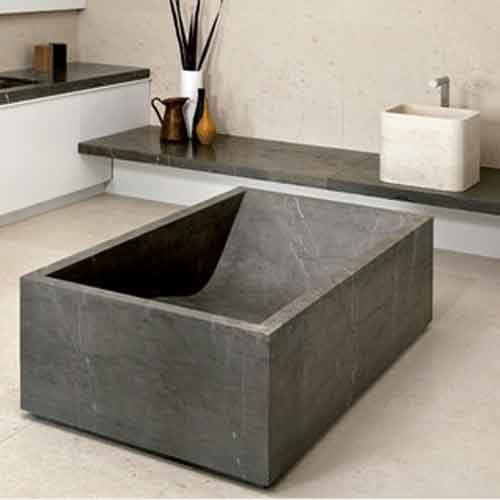 Freestanding Stone Bath Tubs For Large Bathroom