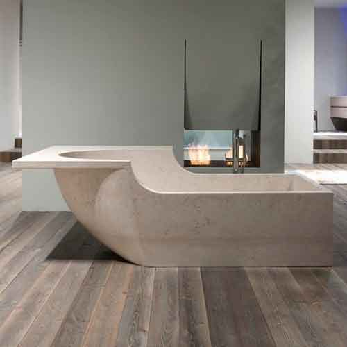 Custom bathtubs travertine bathtubs for Custom tubs and showers