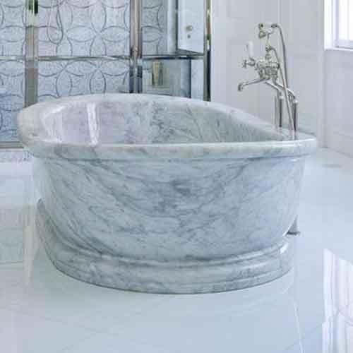 Carrara Bathtub White Marble Bathtub